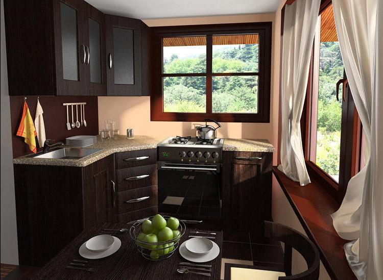 Гостиная кухня на даче дизайн фото